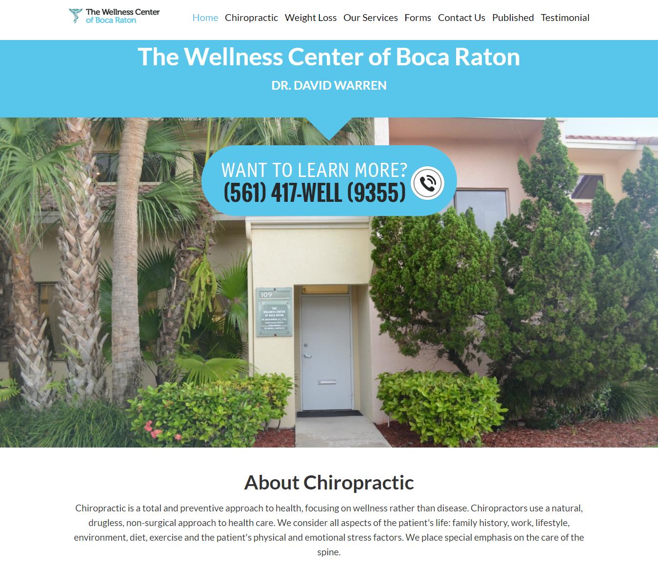 Boca Chiropractor Dr. Dave Warren of The Wellness Center of Boca Raton