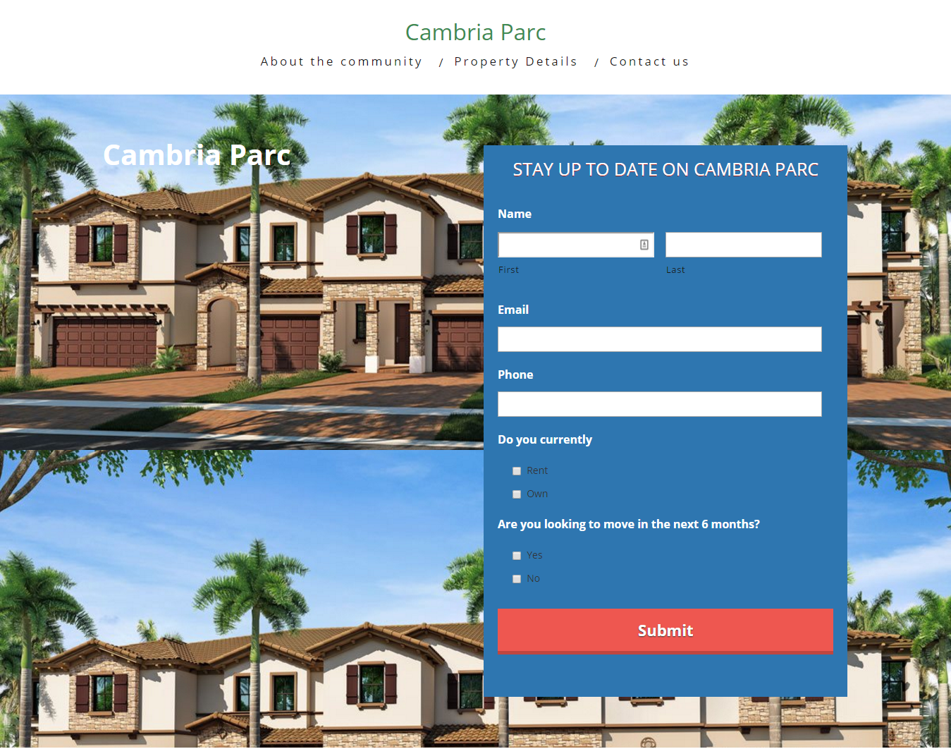 Cambria Parc Boynton Beach offers two story home designs with garages
