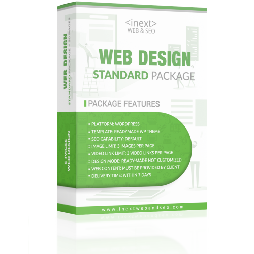 Standard Package Web Design | iNext Web and SEO